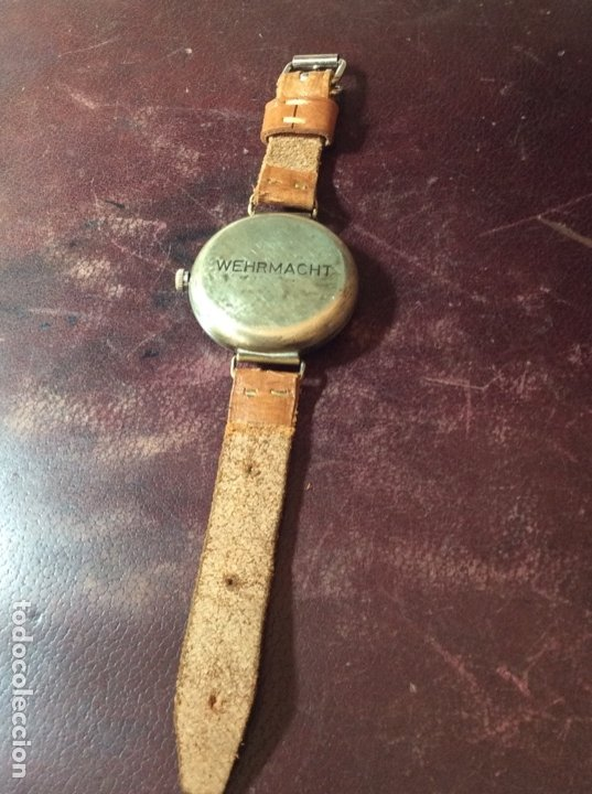 Relojes de pulsera: Antiguo Reloj De cuerda , esfera nazi de bronce . Muy raro . - Foto 4 - 175277753