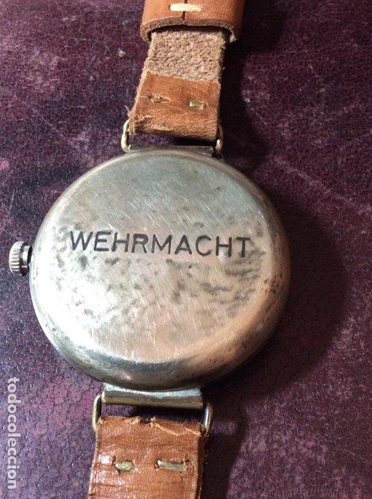 Relojes de pulsera: Antiguo Reloj De cuerda , esfera nazi de bronce . Muy raro . - Foto 5 - 175277753