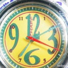 Relojes de pulsera: RELOJ RECICLADO CON LATAS PAPELES BOTELLAS SERIE LIMITADA Nº 0365 CON PAPELES. Lote 175347889