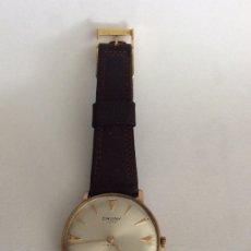 Relojes de pulsera: CAUNY PRIMA LUXE 17RUBIS, CAJA PLAQUÉ EN ORO Y ACERO,33 MM-RELOJ PULSERA ,FUNCIONANDO. Lote 175517573