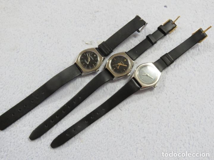 Relojes de pulsera: LOTE DE 3 RELOJES DE PULSERA MARCA BIFORA DE CUERDA MECANICOS, DE LOS AÑOS 50, CORREAS DE CUERO - Foto 4 - 175536095