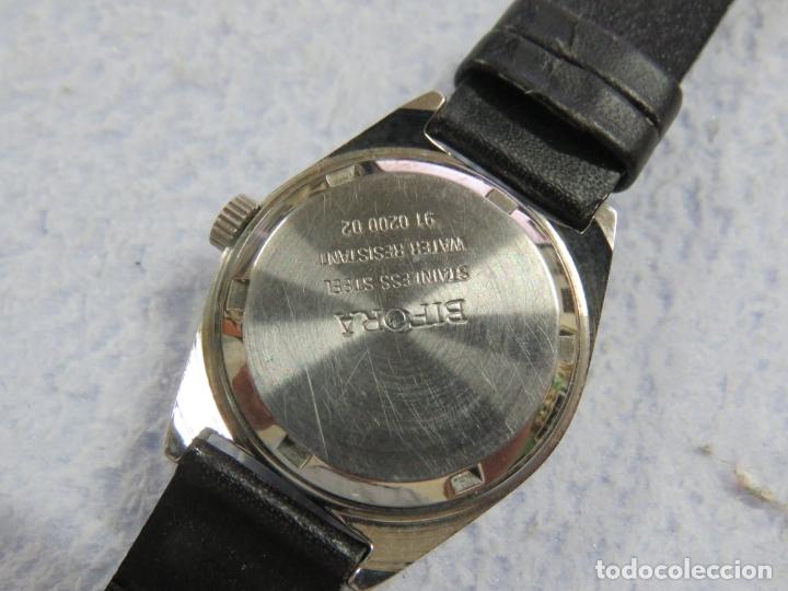 Relojes de pulsera: LOTE DE 3 RELOJES DE PULSERA MARCA BIFORA DE CUERDA MECANICOS, DE LOS AÑOS 50, CORREAS DE CUERO - Foto 9 - 175536095