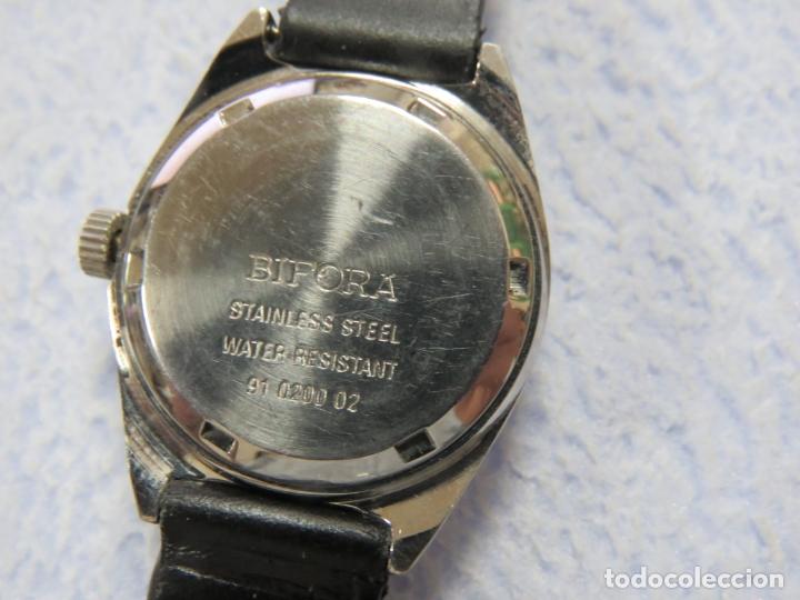 Relojes de pulsera: LOTE DE 3 RELOJES DE PULSERA MARCA BIFORA DE CUERDA MECANICOS, DE LOS AÑOS 50, CORREAS DE CUERO - Foto 10 - 175536095