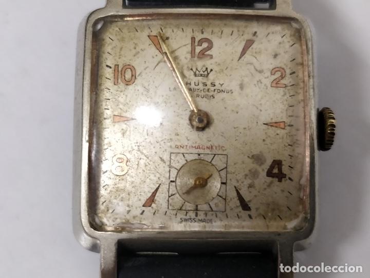 Relojes de pulsera: Antiguo reloj THUSSY La chaux de fonds 15 rubís - Foto 2 - 175656330
