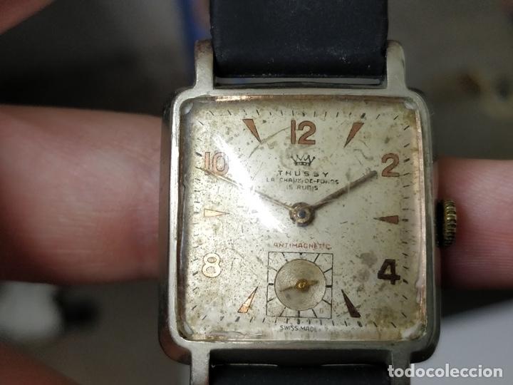 Relojes de pulsera: Antiguo reloj THUSSY La chaux de fonds 15 rubís - Foto 11 - 175656330