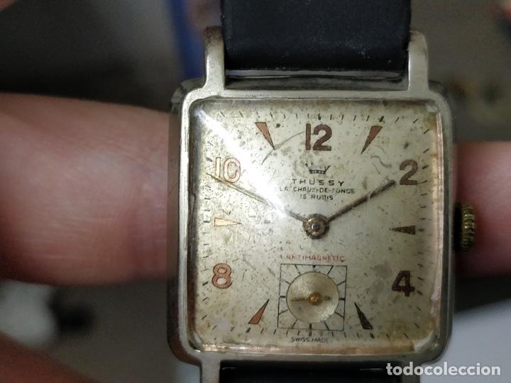 Relojes de pulsera: Antiguo reloj THUSSY La chaux de fonds 15 rubís - Foto 12 - 175656330
