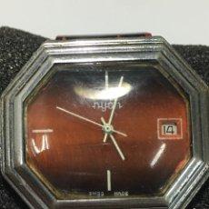 Relojes de pulsera: RELOJ NYON CARGA MANUAL SWISS MADE ESFERA ESPECIAL EN FUNCIONAMIENTO. Lote 176073225