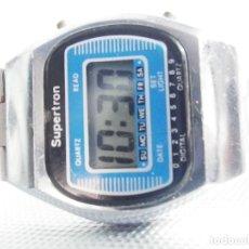 Relojes de pulsera: SUPERTRON ELECTRONICO AÑO 1980 DIFICIL DE ENCONTRAR DE COLECCION LOTE WATCHES. Lote 176161748