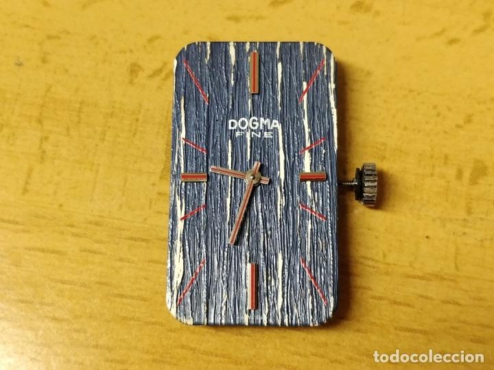 Relojes de pulsera: Reloj de pulsera Dogma Fine, carga manual, funcionando. Muy original esfera - Foto 10 - 53703881