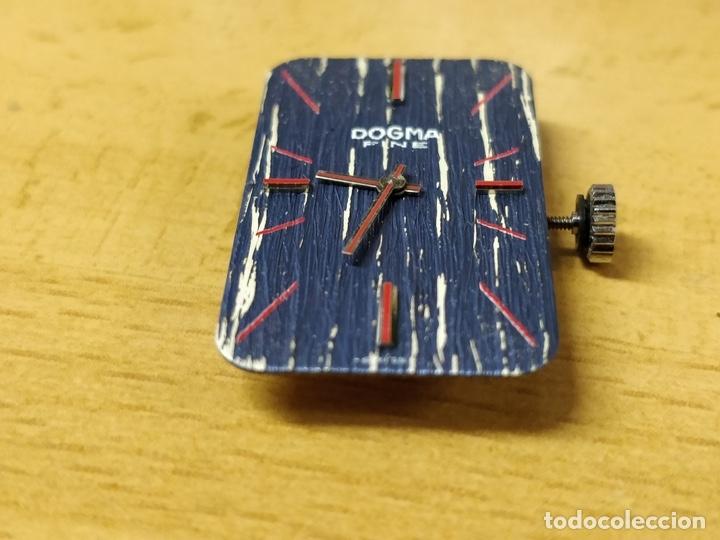 Relojes de pulsera: Reloj de pulsera Dogma Fine, carga manual, funcionando. Muy original esfera - Foto 12 - 53703881