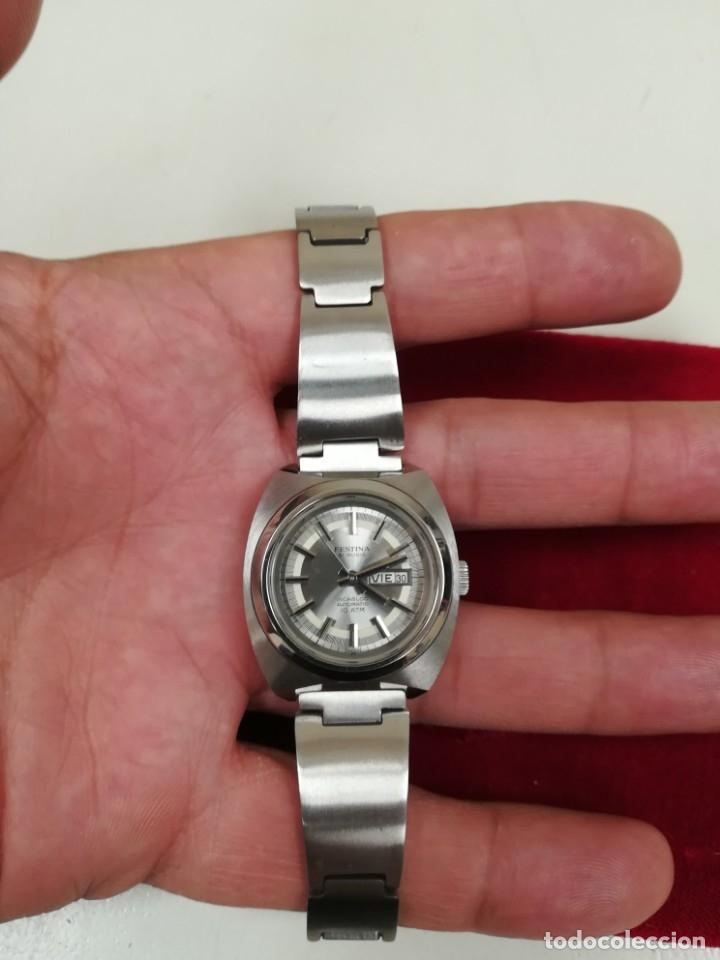 Relojes de pulsera: Bonito reloj Festina años 70 totalmente nuevo automático 10 ATM Swiss - Foto 10 - 176309449