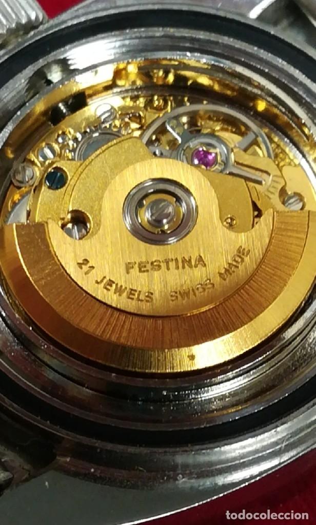 Relojes de pulsera: Bonito reloj Festina años 70 totalmente nuevo automático 10 ATM Swiss - Foto 12 - 176309449