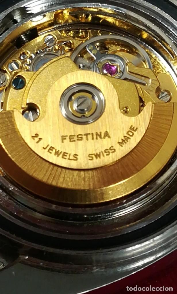 Relojes de pulsera: Bonito reloj Festina años 70 totalmente nuevo automático 10 ATM Swiss - Foto 13 - 176309449