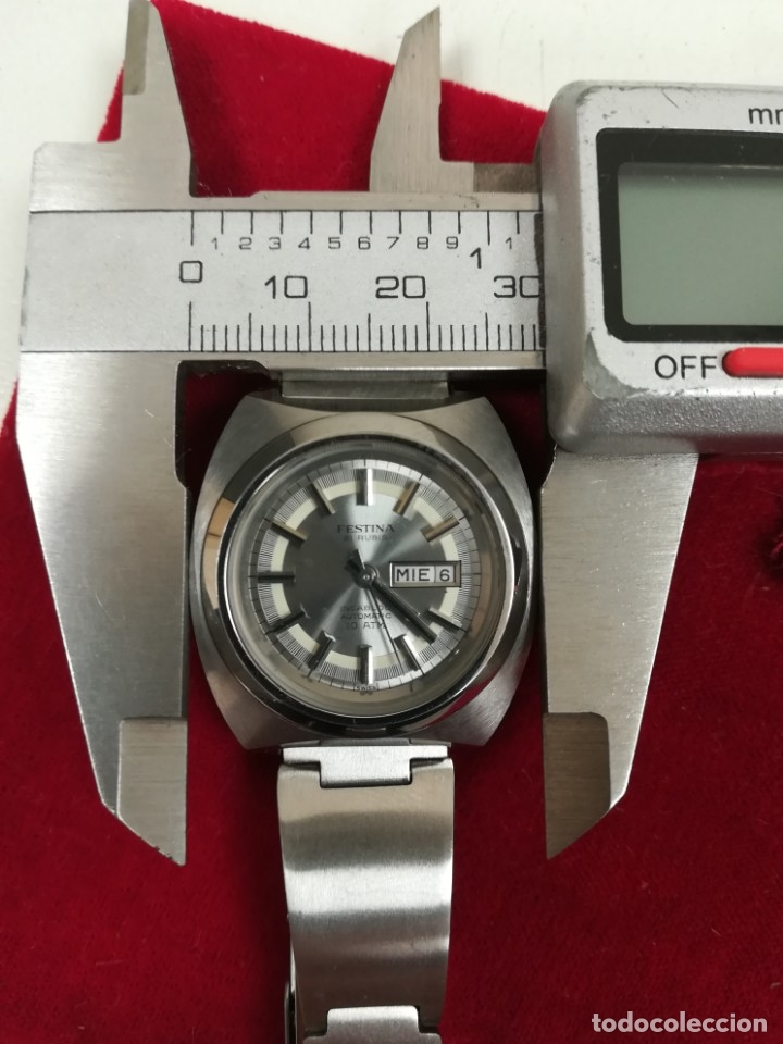 Relojes de pulsera: Bonito reloj Festina años 70 totalmente nuevo automático 10 ATM Swiss - Foto 15 - 176309449