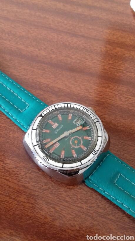 Relojes de pulsera: Reloj SAVAR diver vintage - Foto 2 - 176478730