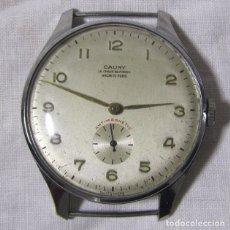 Relojes de pulsera: RELOJ DE PULSERA A CUERDA CAUNY 15 RUBIES GRANDE. Lote 176778325