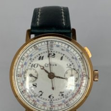 Relojes de pulsera: CYRUS ORO CRONOGRAFO. Lote 176805658
