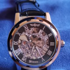 Relojes de pulsera: RELOJ DE PULSERA CARGA MANUAL, MAQUINARIA VISTA. Lote 176816684