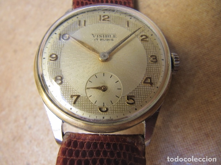 ANTIGUO RELOJ DE CUERDA VISIBLE 17 RUBIS (Relojes - Pulsera Carga Manual)