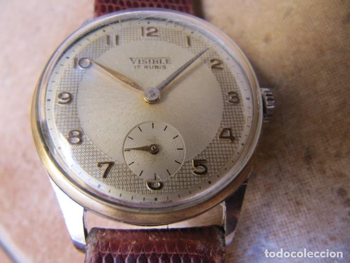Relojes de pulsera: ANTIGUO RELOJ DE CUERDA VISIBLE 17 RUBIS - Foto 2 - 203633760