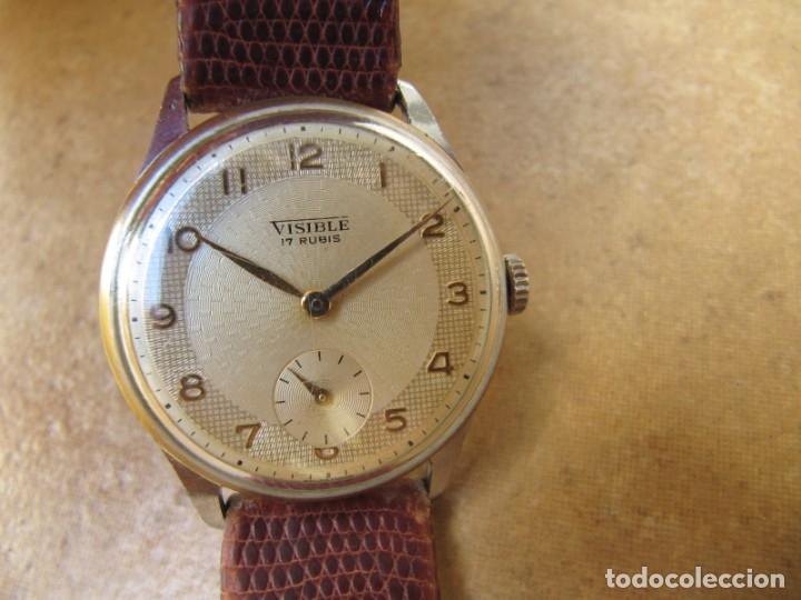 Relojes de pulsera: ANTIGUO RELOJ DE CUERDA VISIBLE 17 RUBIS - Foto 3 - 203633760