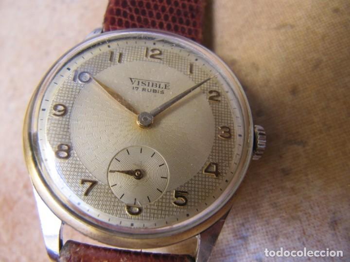 Relojes de pulsera: ANTIGUO RELOJ DE CUERDA VISIBLE 17 RUBIS - Foto 4 - 203633760