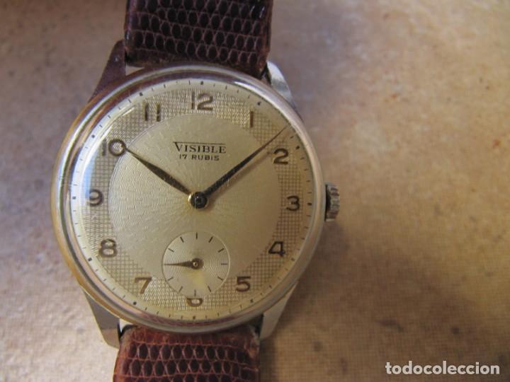 Relojes de pulsera: ANTIGUO RELOJ DE CUERDA VISIBLE 17 RUBIS - Foto 5 - 203633760
