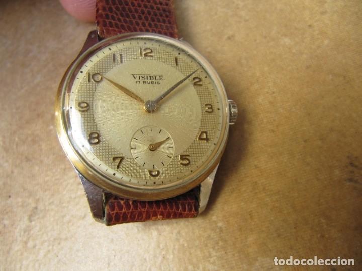 Relojes de pulsera: ANTIGUO RELOJ DE CUERDA VISIBLE 17 RUBIS - Foto 6 - 203633760