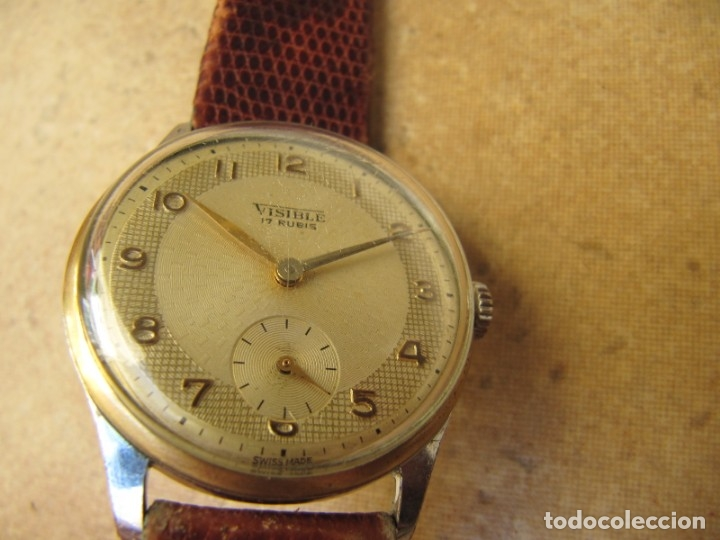 Relojes de pulsera: ANTIGUO RELOJ DE CUERDA VISIBLE 17 RUBIS - Foto 7 - 203633760