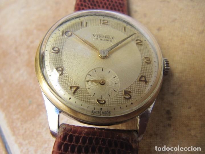 Relojes de pulsera: ANTIGUO RELOJ DE CUERDA VISIBLE 17 RUBIS - Foto 8 - 203633760