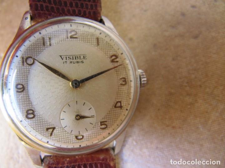 Relojes de pulsera: ANTIGUO RELOJ DE CUERDA VISIBLE 17 RUBIS - Foto 9 - 203633760