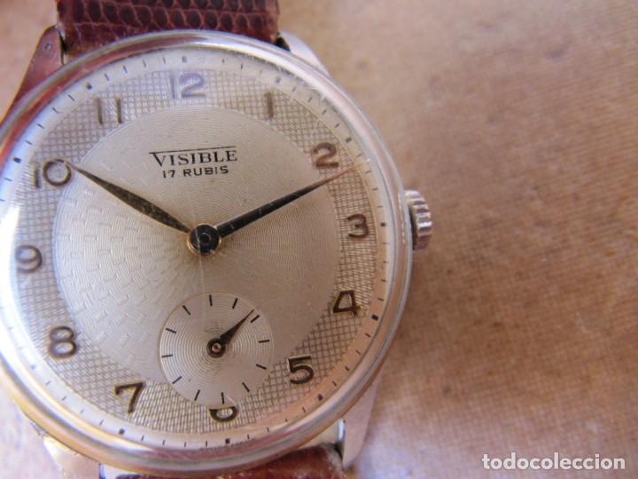 Relojes de pulsera: ANTIGUO RELOJ DE CUERDA VISIBLE 17 RUBIS - Foto 10 - 203633760