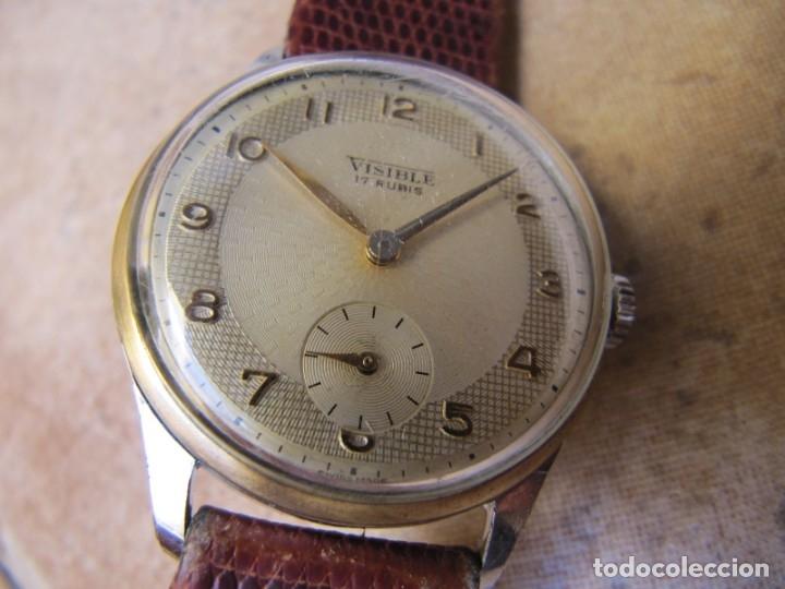 Relojes de pulsera: ANTIGUO RELOJ DE CUERDA VISIBLE 17 RUBIS - Foto 11 - 203633760
