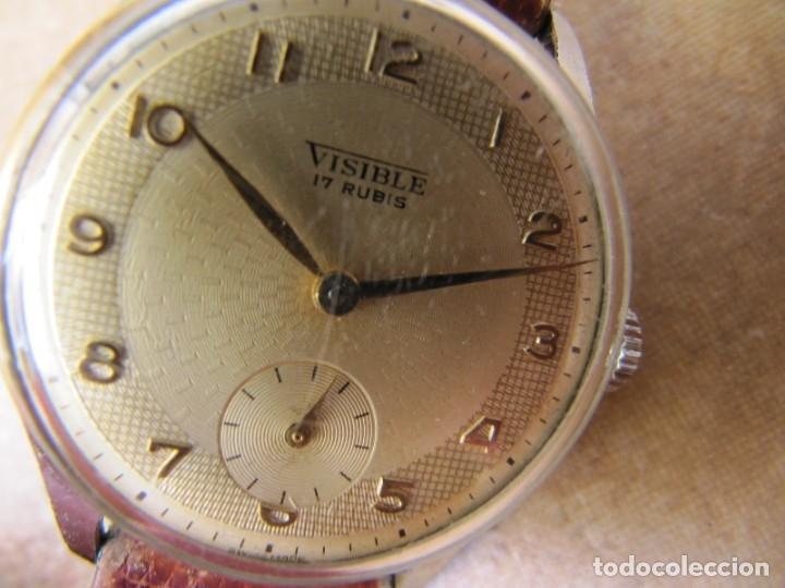 Relojes de pulsera: ANTIGUO RELOJ DE CUERDA VISIBLE 17 RUBIS - Foto 12 - 203633760