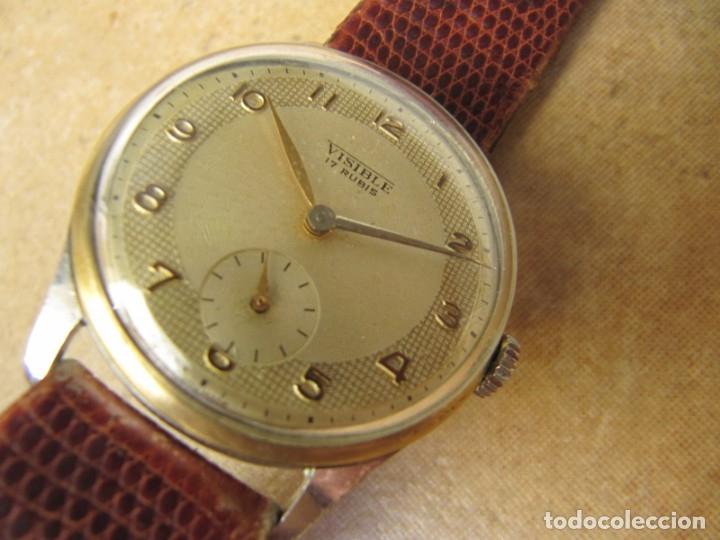 Relojes de pulsera: ANTIGUO RELOJ DE CUERDA VISIBLE 17 RUBIS - Foto 13 - 203633760