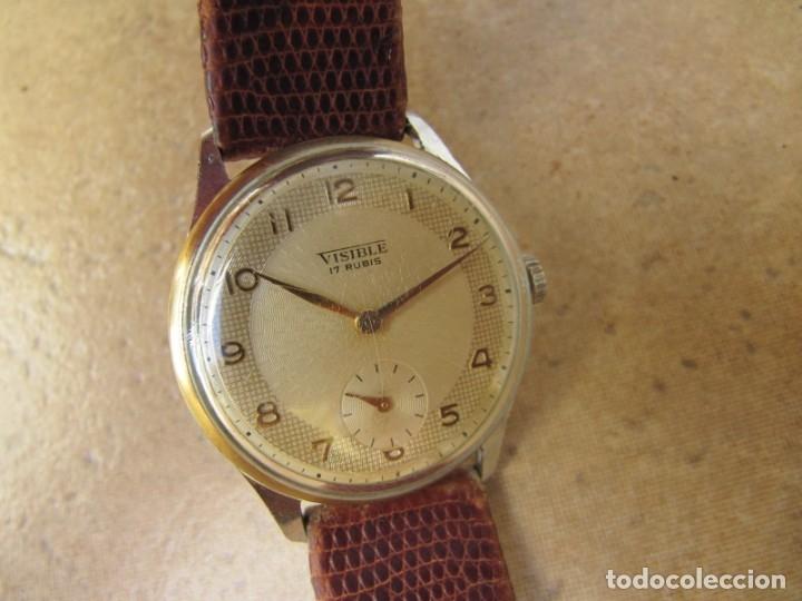 Relojes de pulsera: ANTIGUO RELOJ DE CUERDA VISIBLE 17 RUBIS - Foto 14 - 203633760