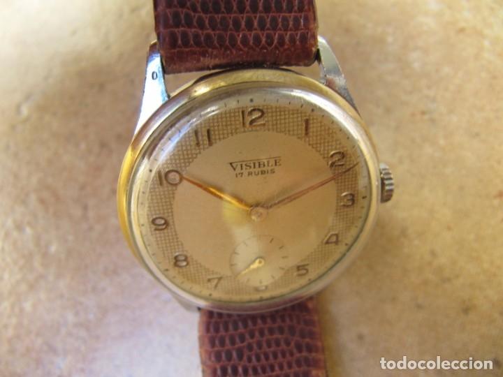 Relojes de pulsera: ANTIGUO RELOJ DE CUERDA VISIBLE 17 RUBIS - Foto 15 - 203633760