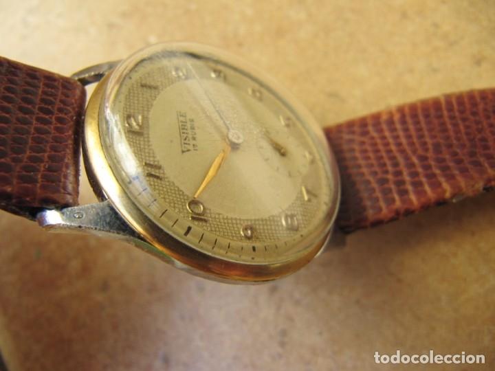 Relojes de pulsera: ANTIGUO RELOJ DE CUERDA VISIBLE 17 RUBIS - Foto 17 - 203633760