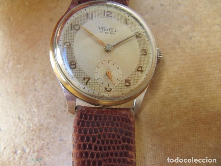 Relojes de pulsera: ANTIGUO RELOJ DE CUERDA VISIBLE 17 RUBIS - Foto 19 - 203633760