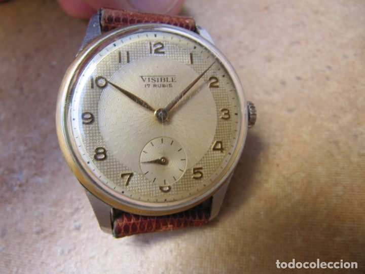 Relojes de pulsera: ANTIGUO RELOJ DE CUERDA VISIBLE 17 RUBIS - Foto 22 - 203633760