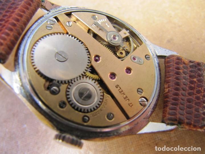 Relojes de pulsera: ANTIGUO RELOJ DE CUERDA VISIBLE 17 RUBIS - Foto 26 - 203633760