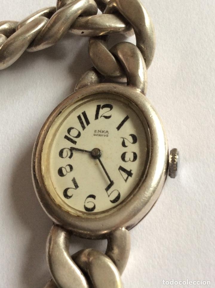 Relojes de pulsera: Emka Geneve señora reloj de pulsera plata 800 Milésimas. - Foto 2 - 177190473
