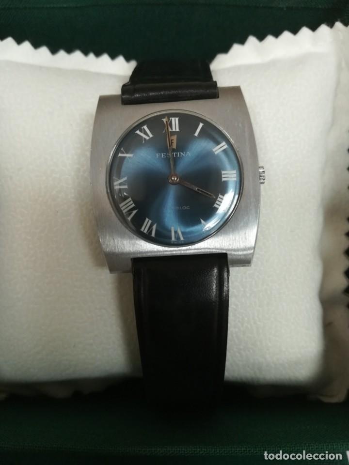 Relojes de pulsera: Reloj Festina años 70 incabloc Swiss totalmente nuevo - Foto 2 - 177529578