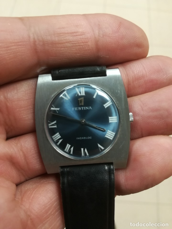 Relojes de pulsera: Reloj Festina años 70 incabloc Swiss totalmente nuevo - Foto 3 - 177529578