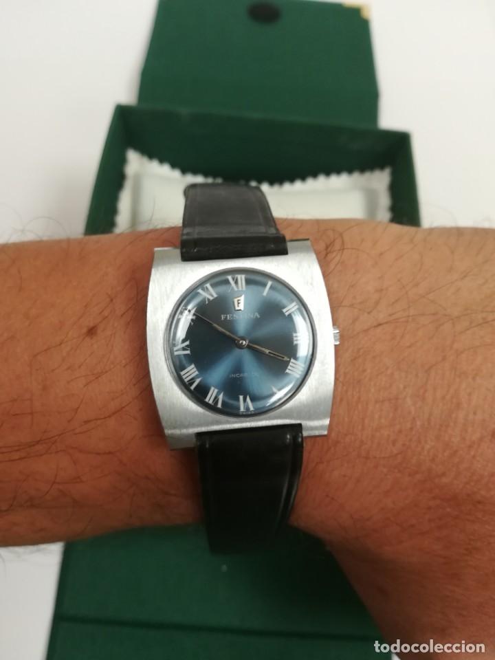 Relojes de pulsera: Reloj Festina años 70 incabloc Swiss totalmente nuevo - Foto 11 - 177529578
