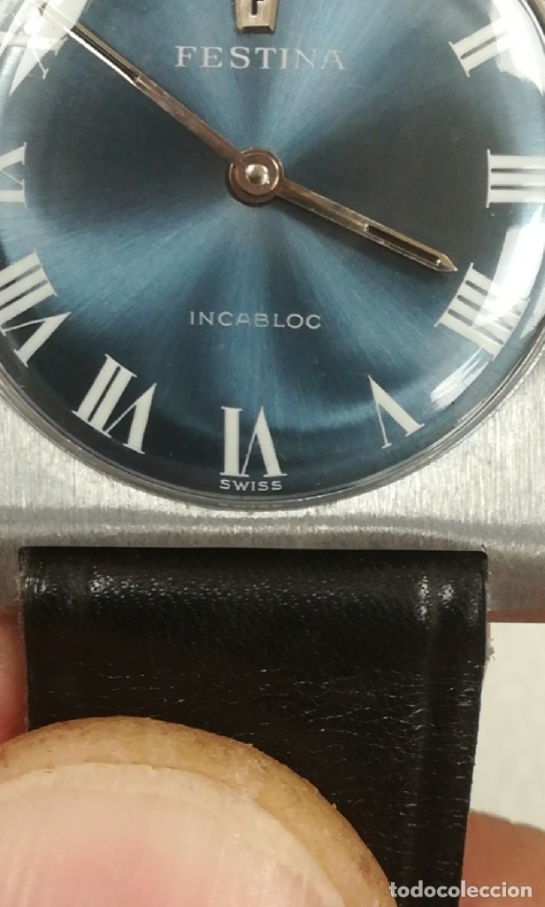 Relojes de pulsera: Reloj Festina años 70 incabloc Swiss totalmente nuevo - Foto 12 - 177529578