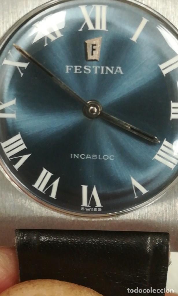 Relojes de pulsera: Reloj Festina años 70 incabloc Swiss totalmente nuevo - Foto 13 - 177529578