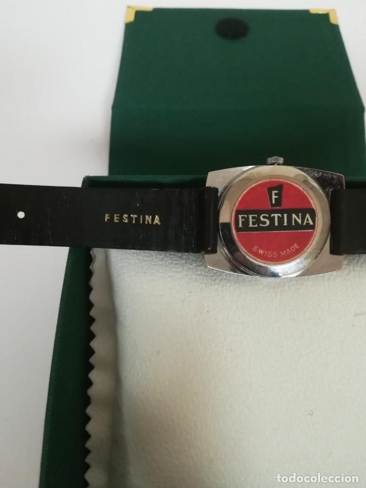 Relojes de pulsera: Reloj Festina años 70 incabloc calendario Swiss totalmente nuevo - Foto 6 - 177529829