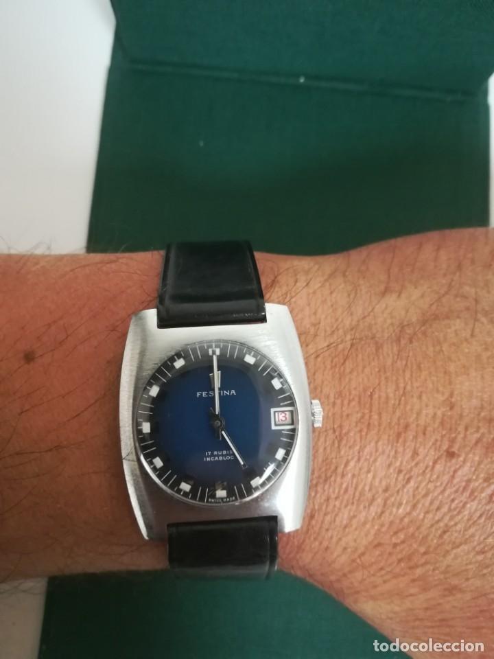 Relojes de pulsera: Reloj Festina años 70 incabloc calendario Swiss totalmente nuevo - Foto 13 - 177529829