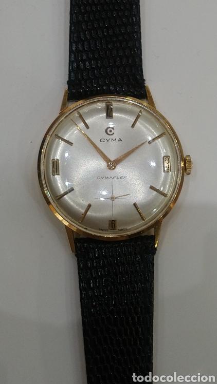 Relojes de pulsera: Reloj Cyma cuerda manual oro 18 kts. 15 grms. - Foto 6 - 150950278